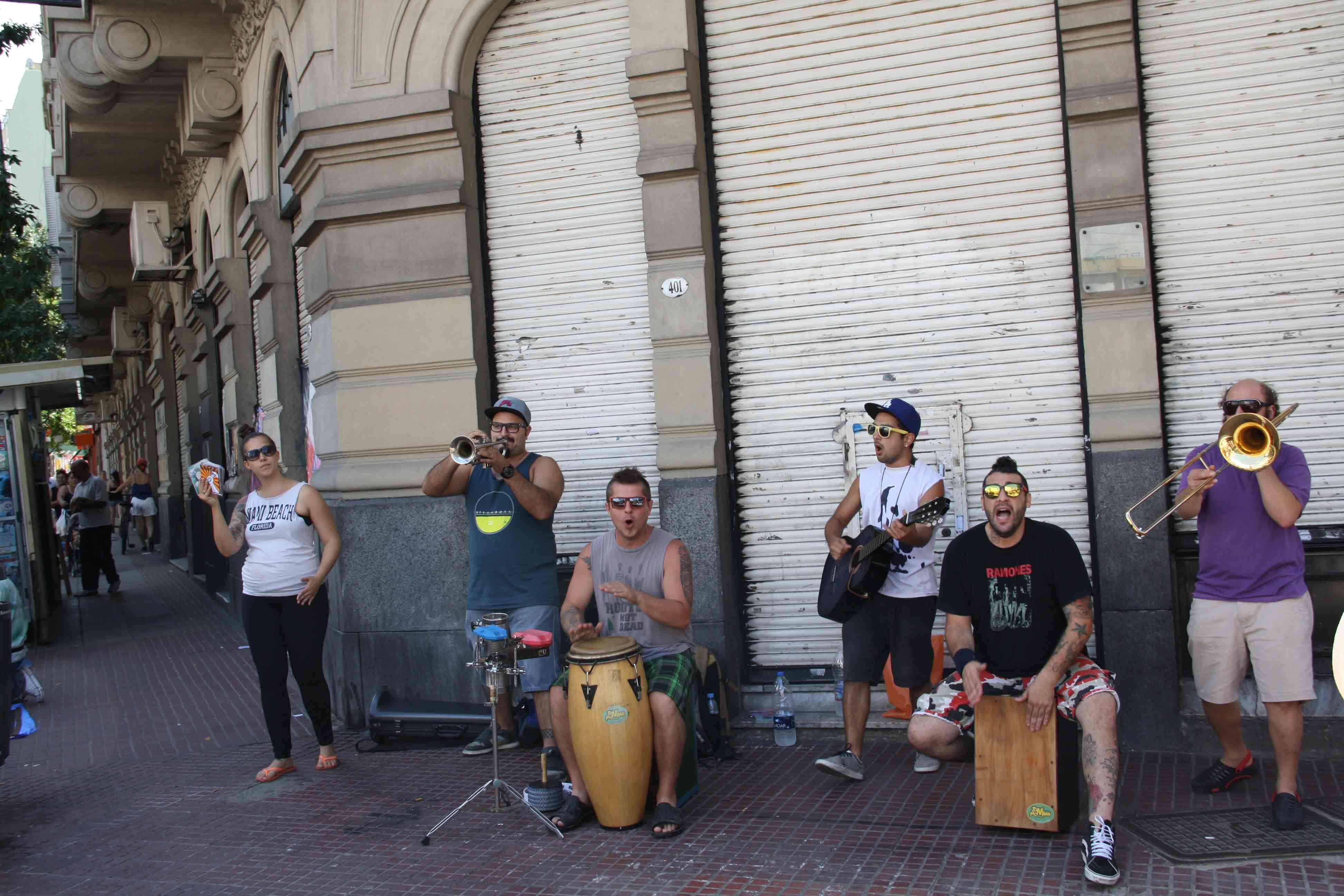 Music band San Telmo market buenos aires argentina