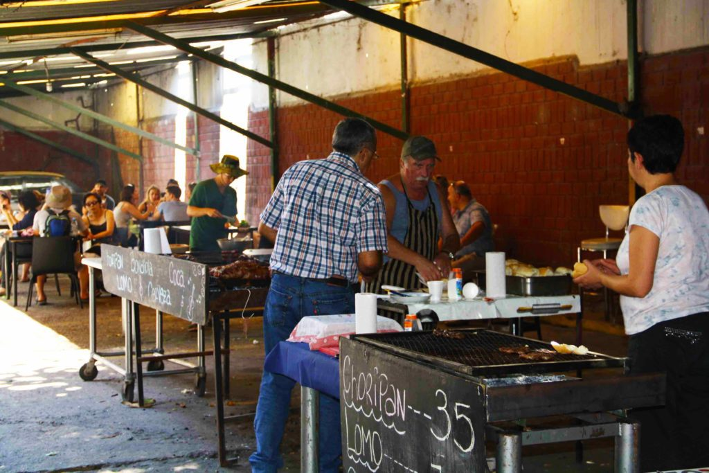 Street food barbecue Buenos Aires argentina