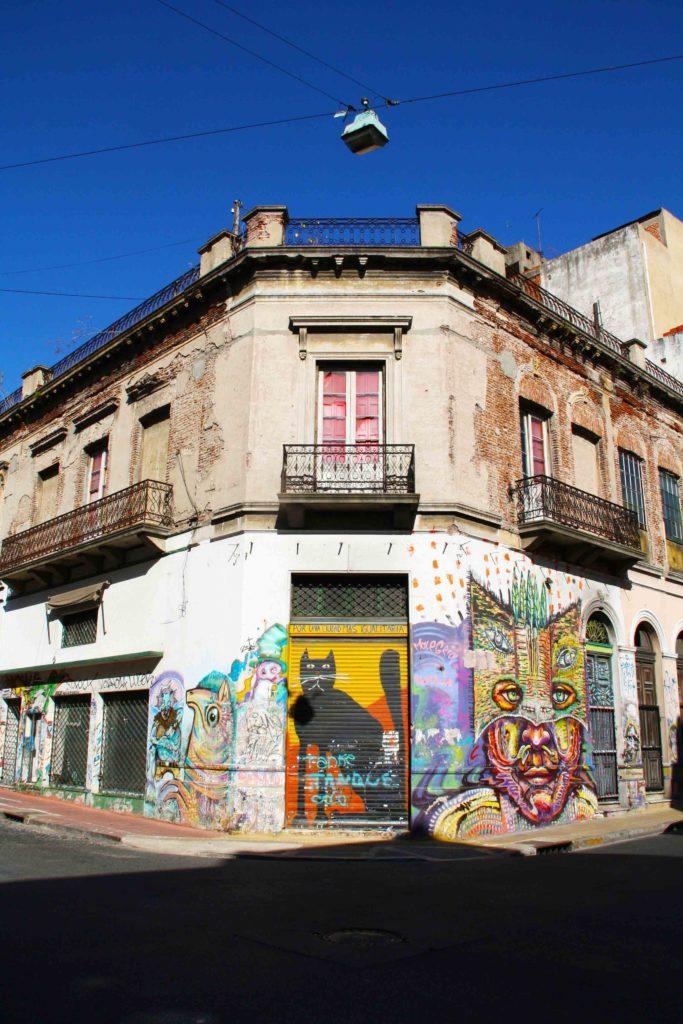 Street art san telmo buenos aires argentina