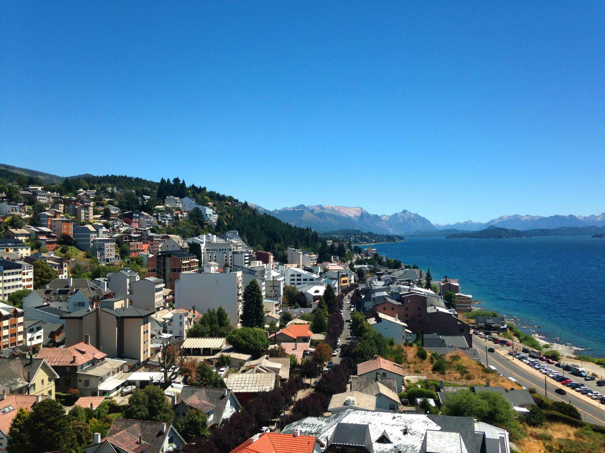 Bariloche city view in Argentina
