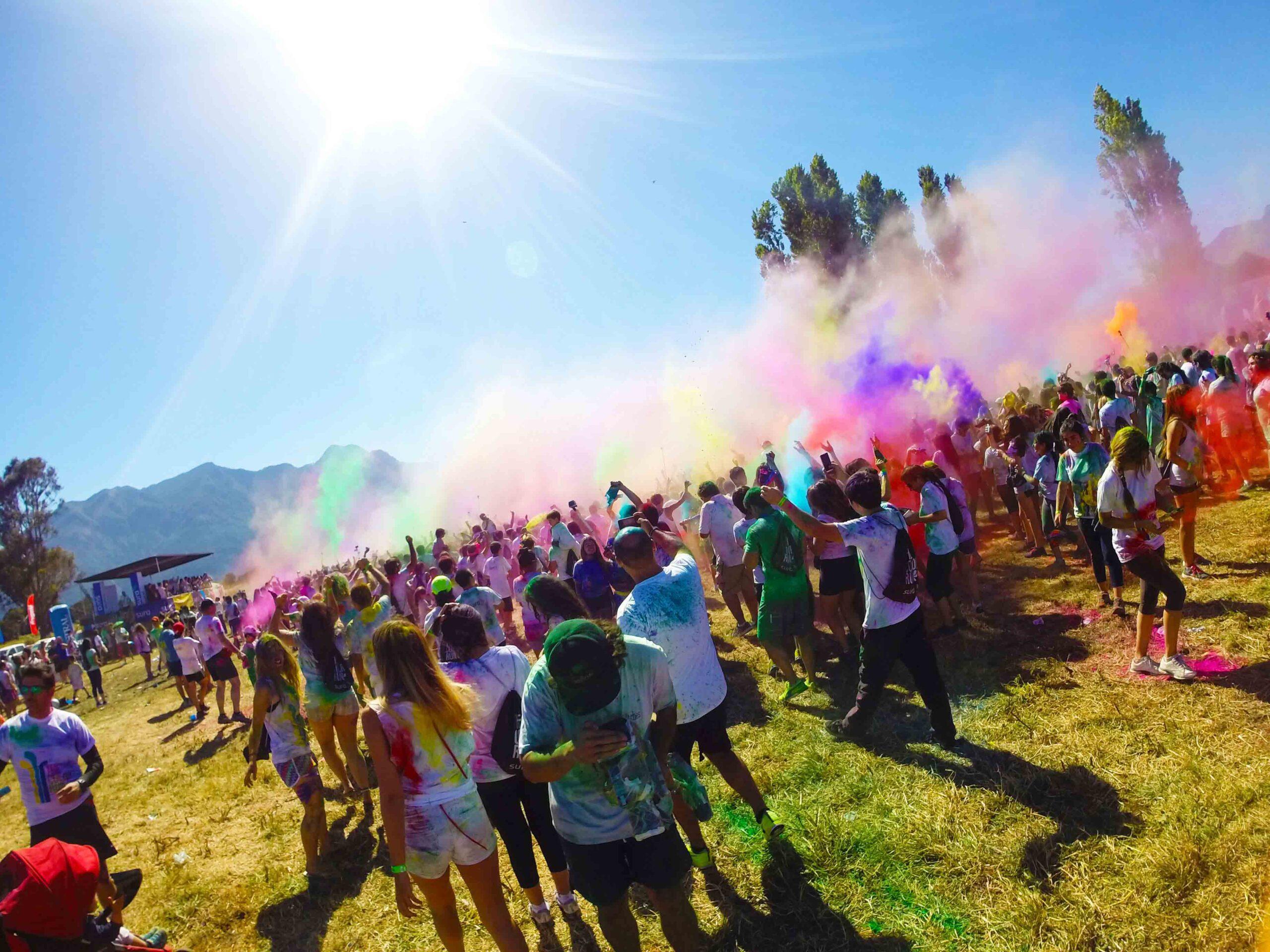 Color run in Pucon Chile