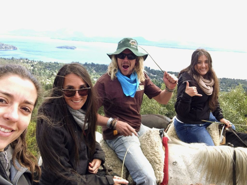 Horse riding group Bariloche