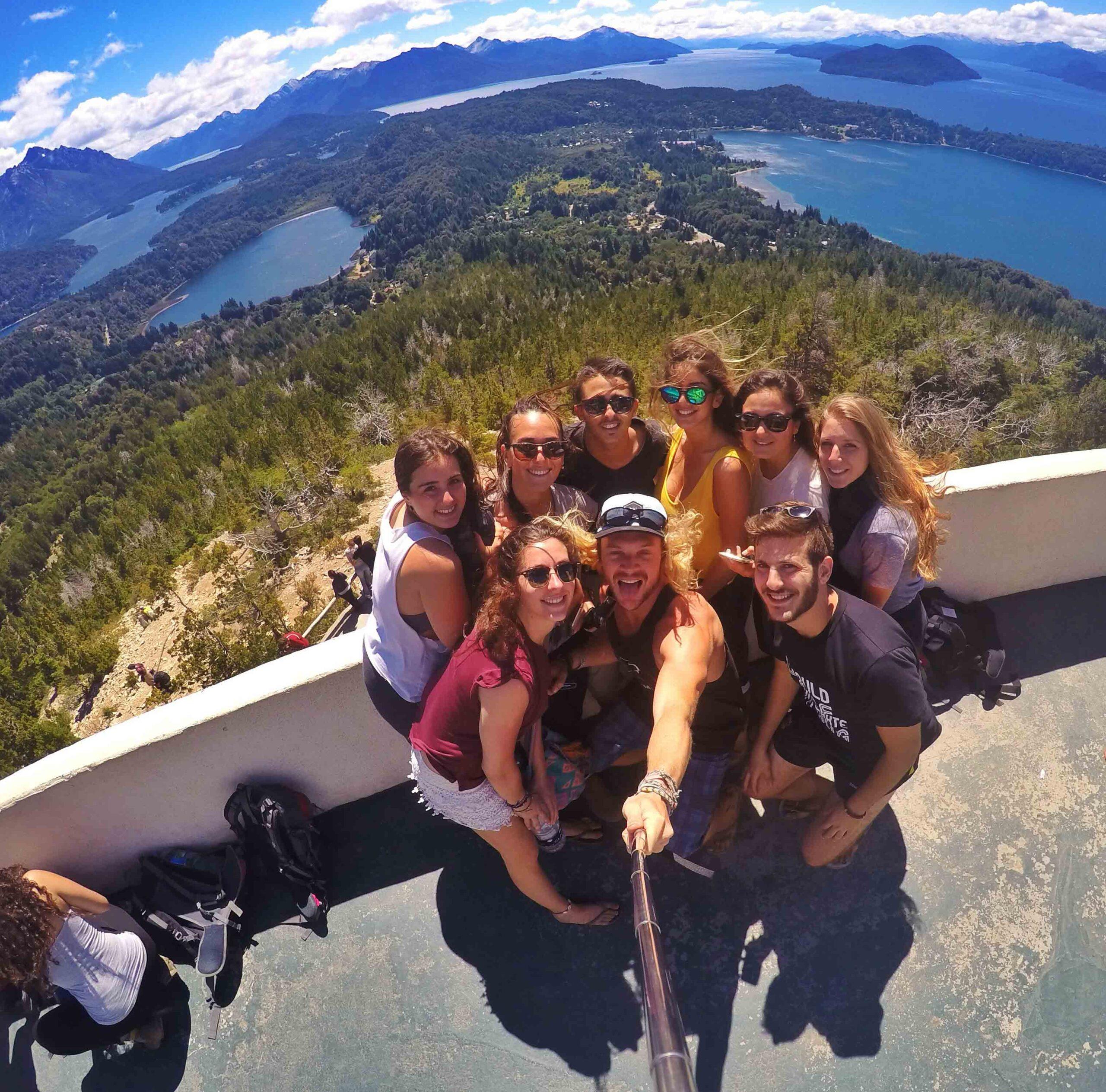 Selfie Bariloche view