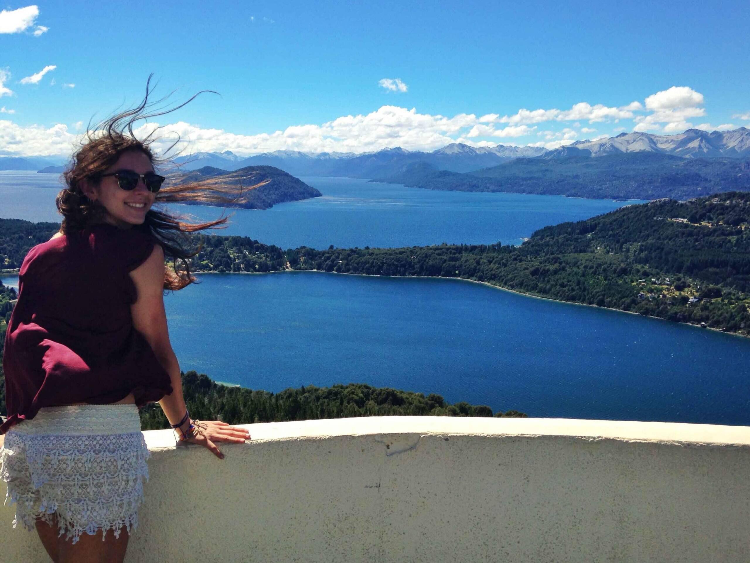 Lake views of Bariloche in Argentina
