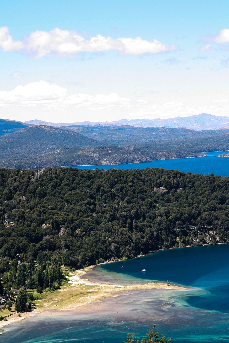 Views over Nahuel Heap National Park Bariloche Argentina
