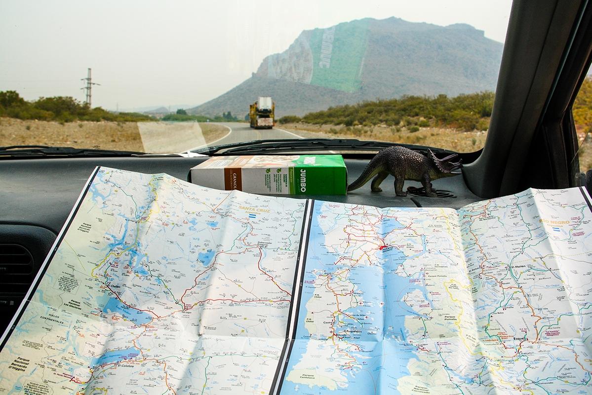 Patagonia roadtrip map
