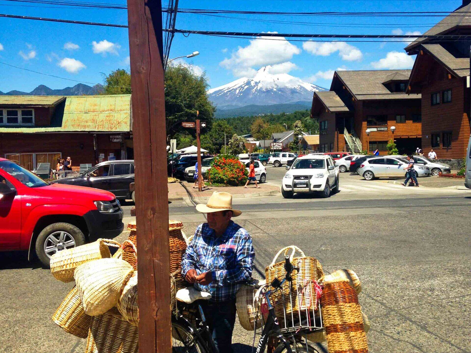 Salesman on the streets of Pucon Chile