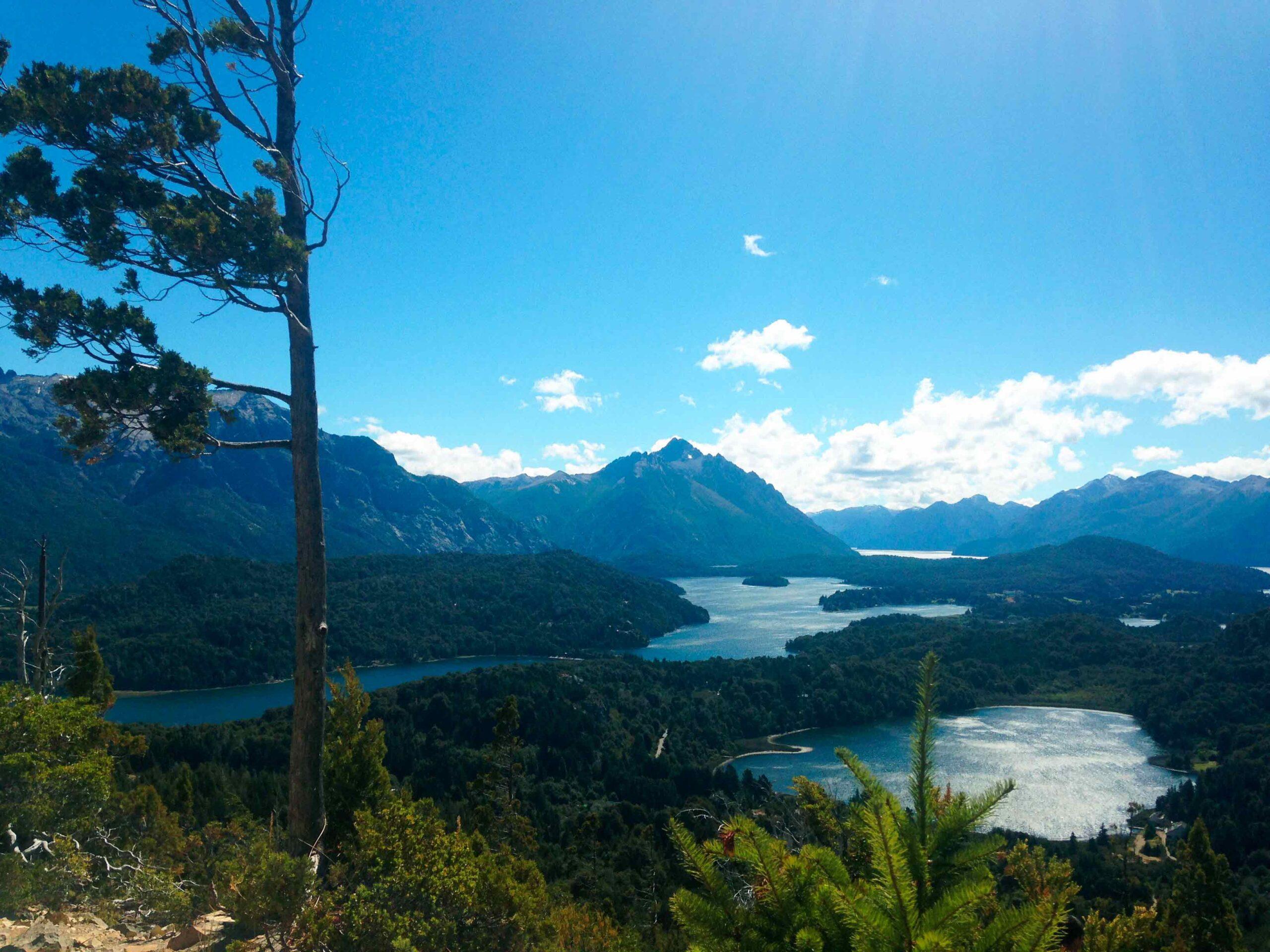 Lake views of Bariloche Argentina