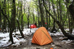 camping in the snow of Torres del Paine Chile