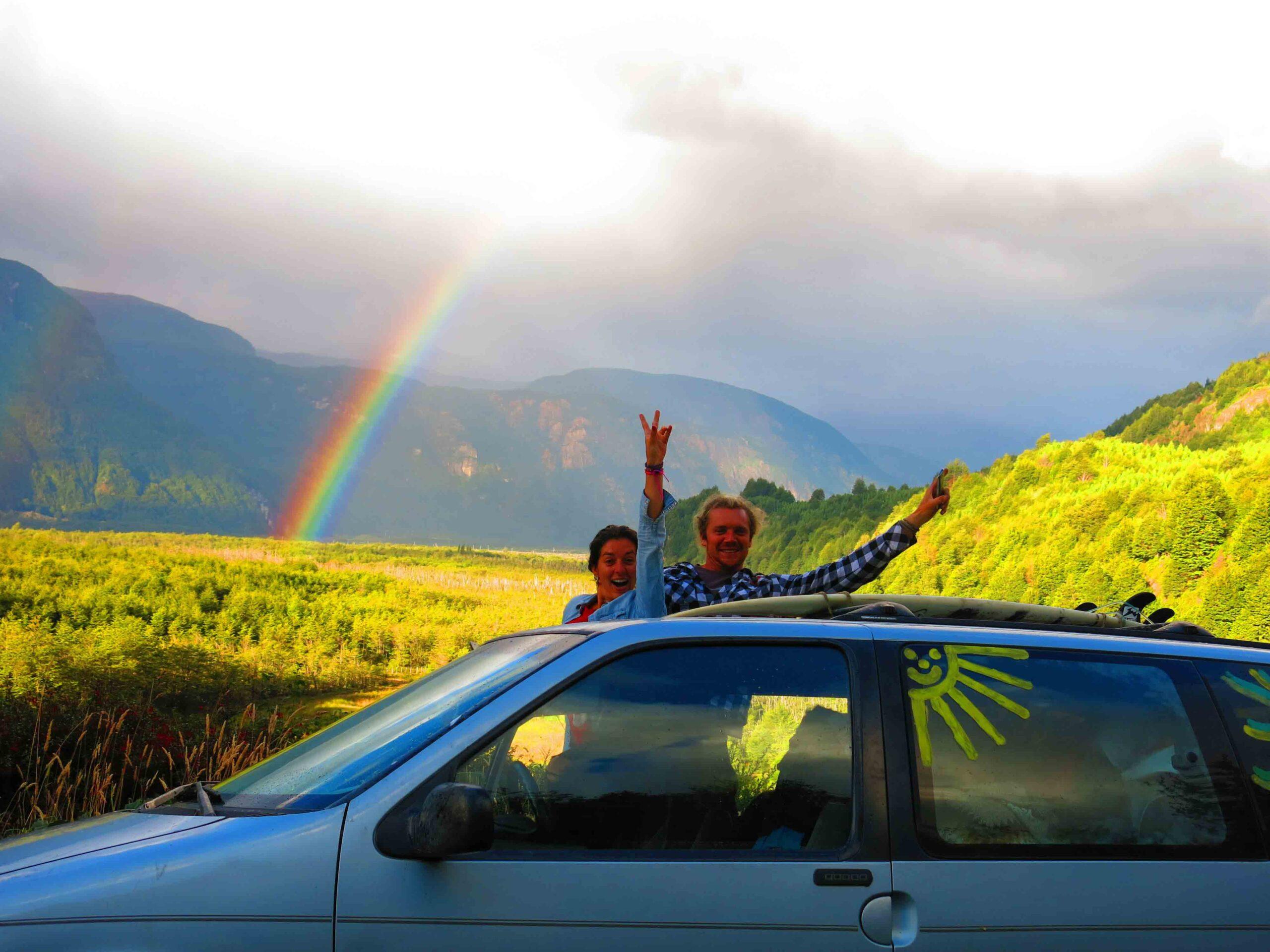 rainbow mountain view roadtrip carretera austral