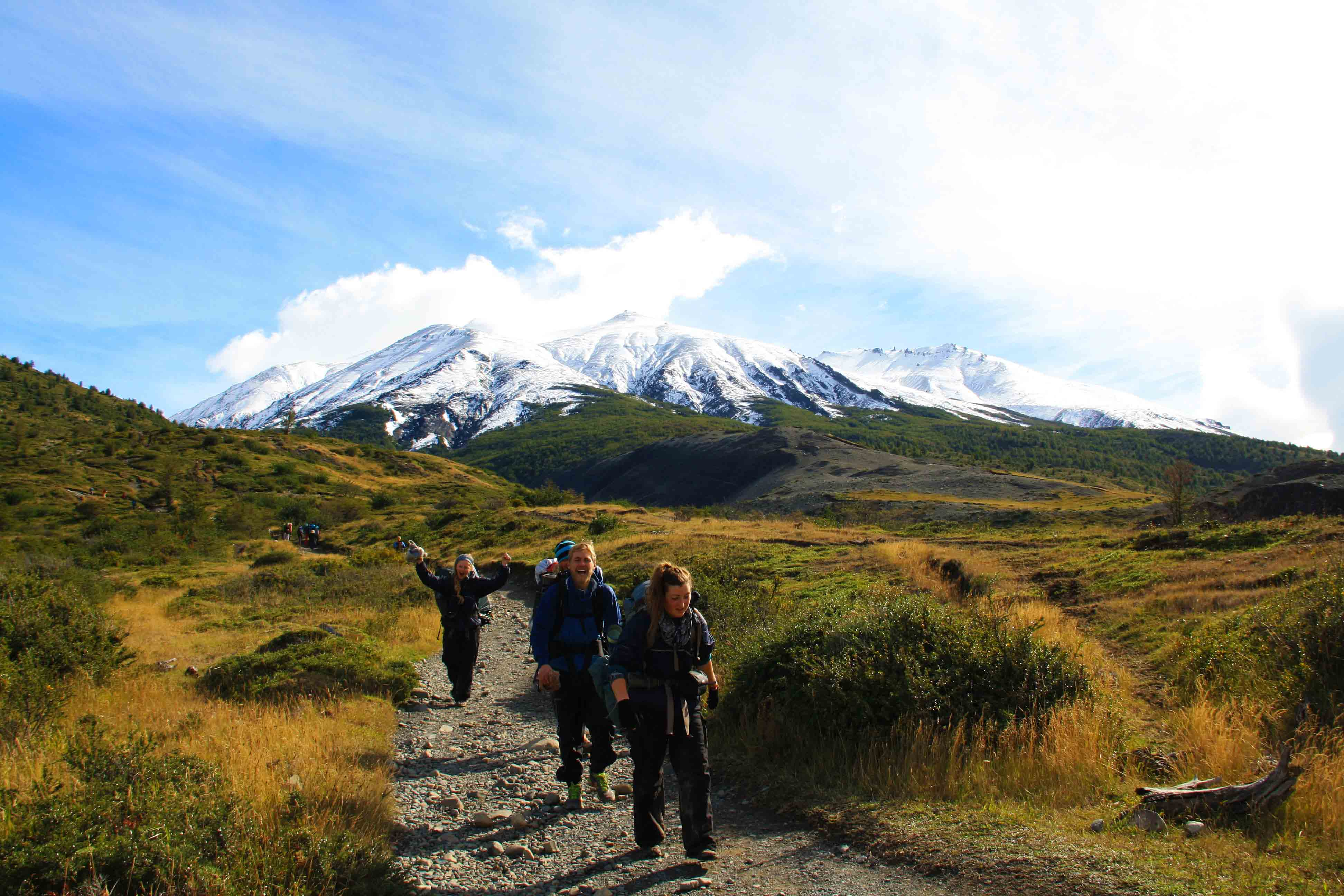 end of the torres del paine trekking