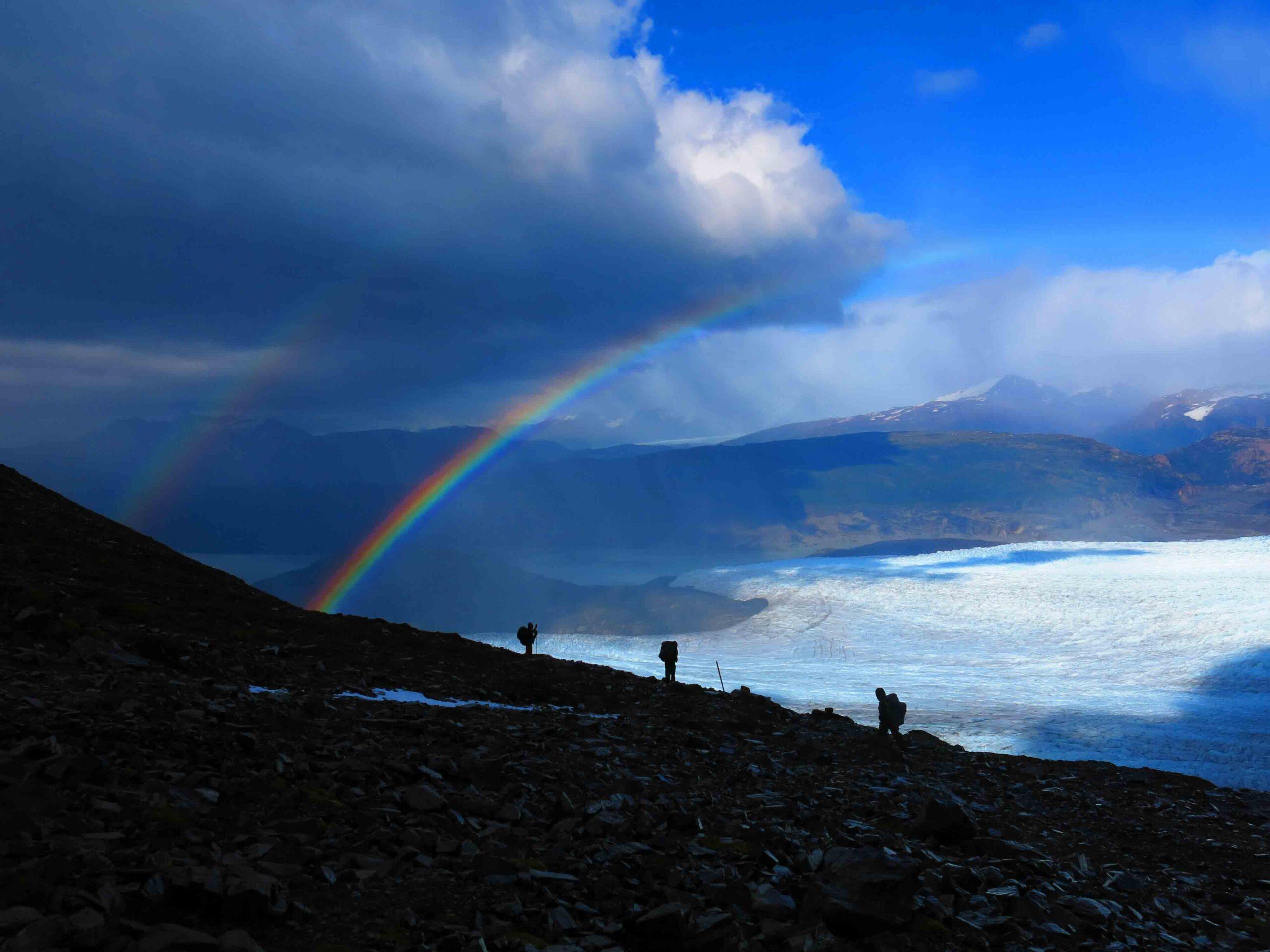 Glacier view torres del paine