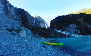 Kayaking hanging glacier Puyuhuapi
