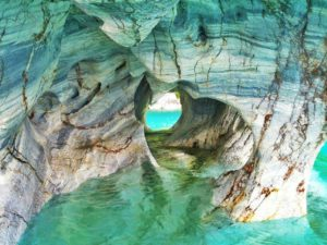 marble caves clear water chile
