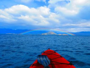 rainbow view kayaking marble caves