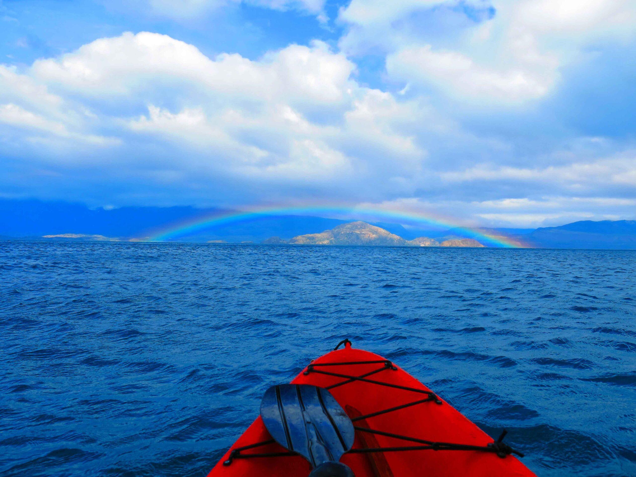 rainbow view kayaking marble caves