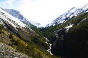 mountains snow river torres