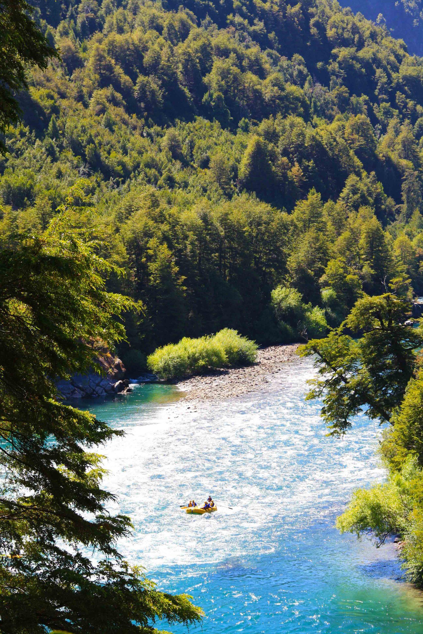 Rafting futaleufu river view