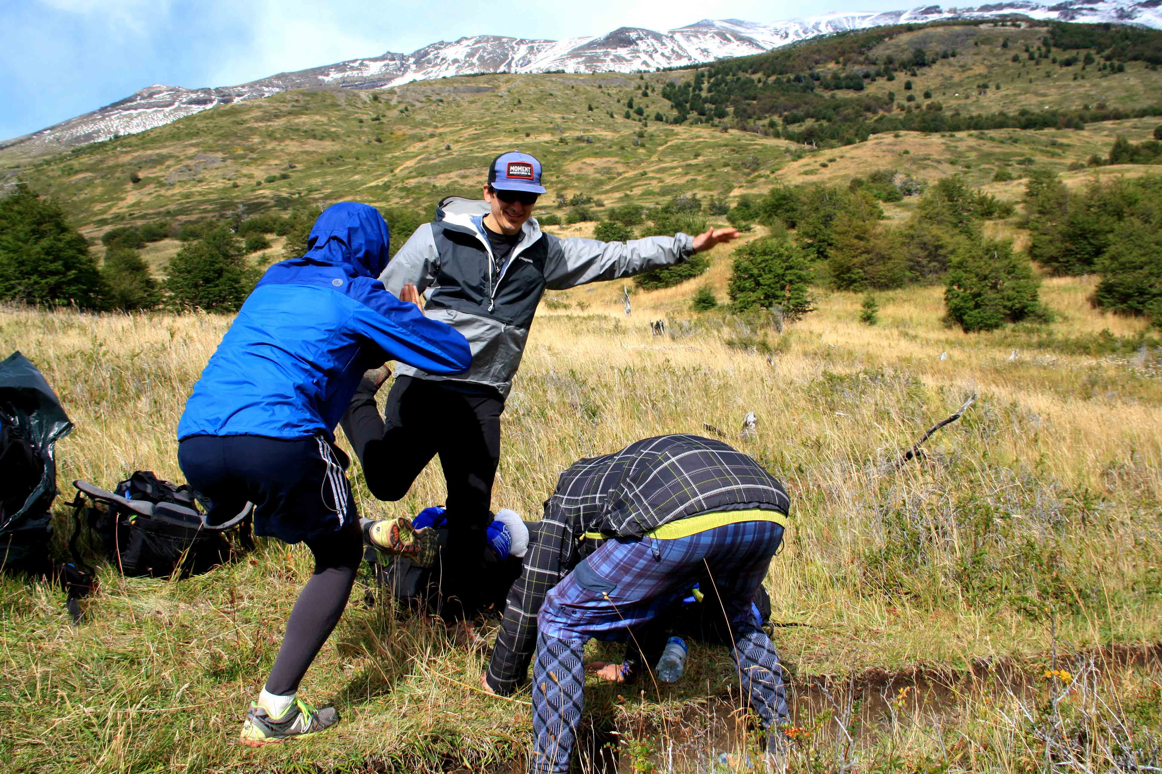 Stretching torres del paine