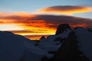 sunrise sky torres del paine