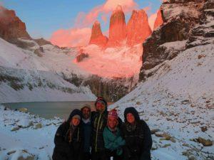Sunrise over Torres del Paine Chile