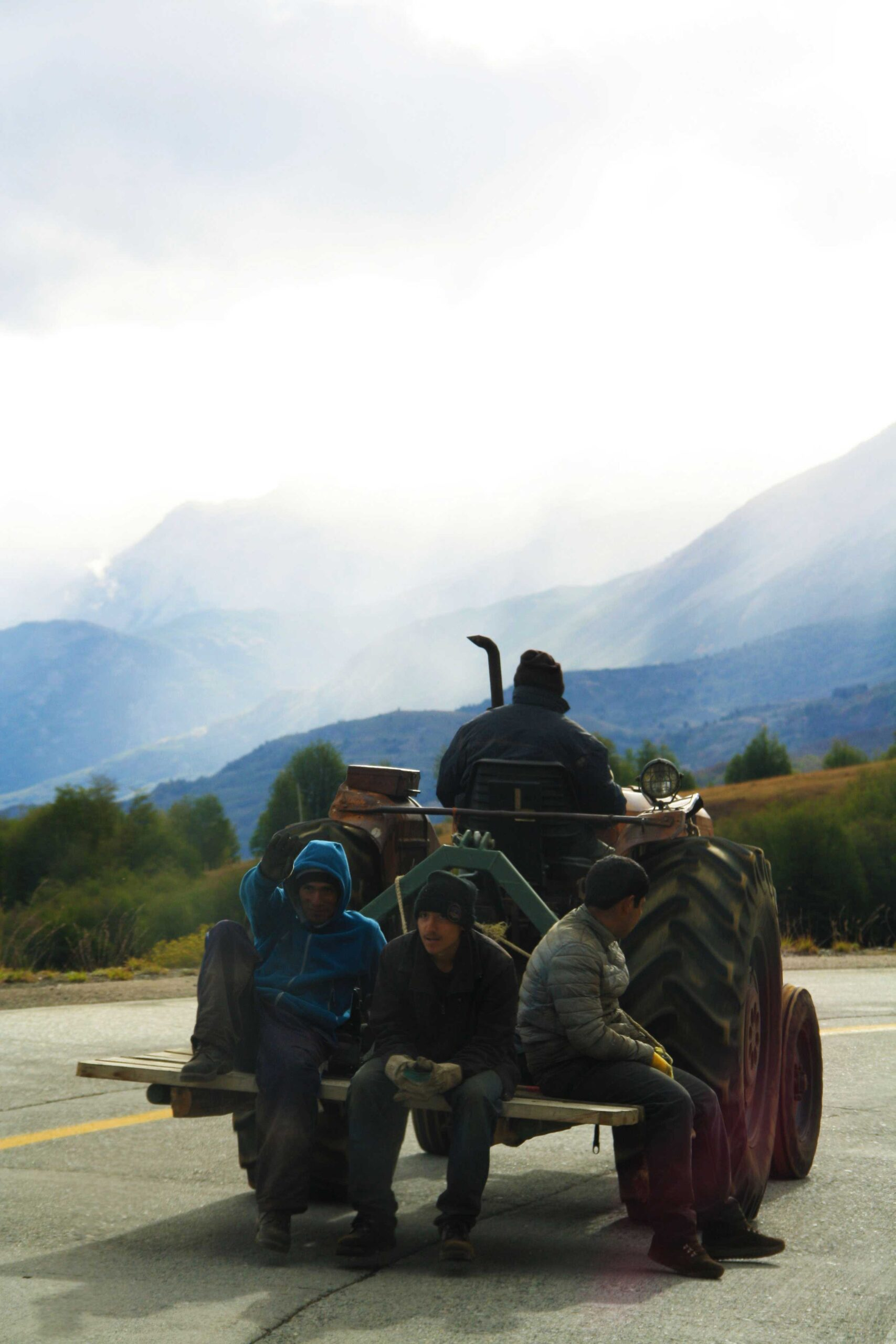 Tractor on the Carretera Austral in Chile