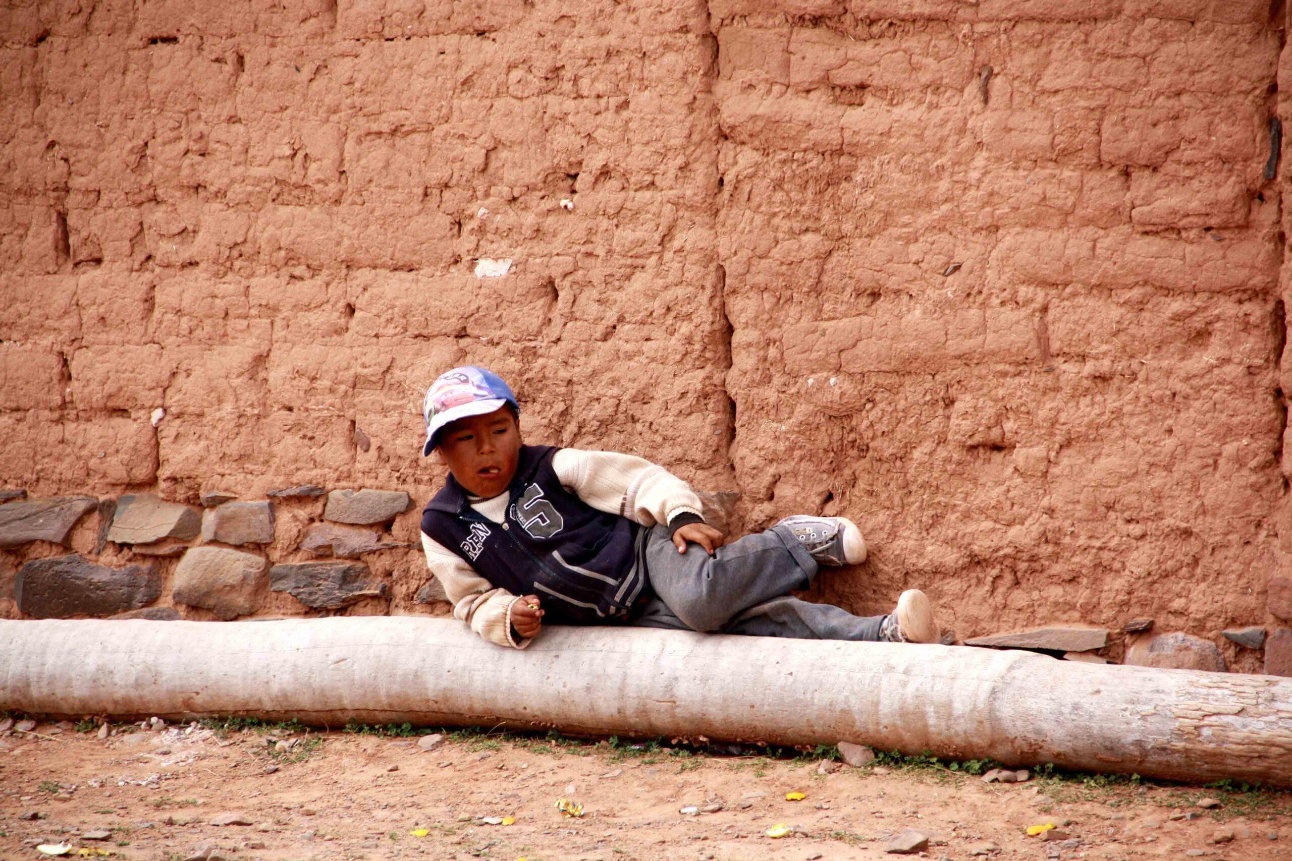 Boy in Bolivian village