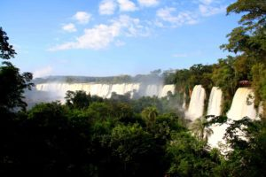 Waterfall view at Iguazu in Argentina