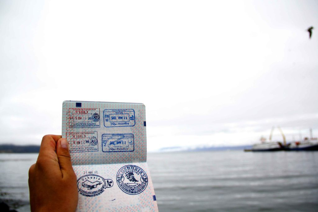 passport stamps ushuaia