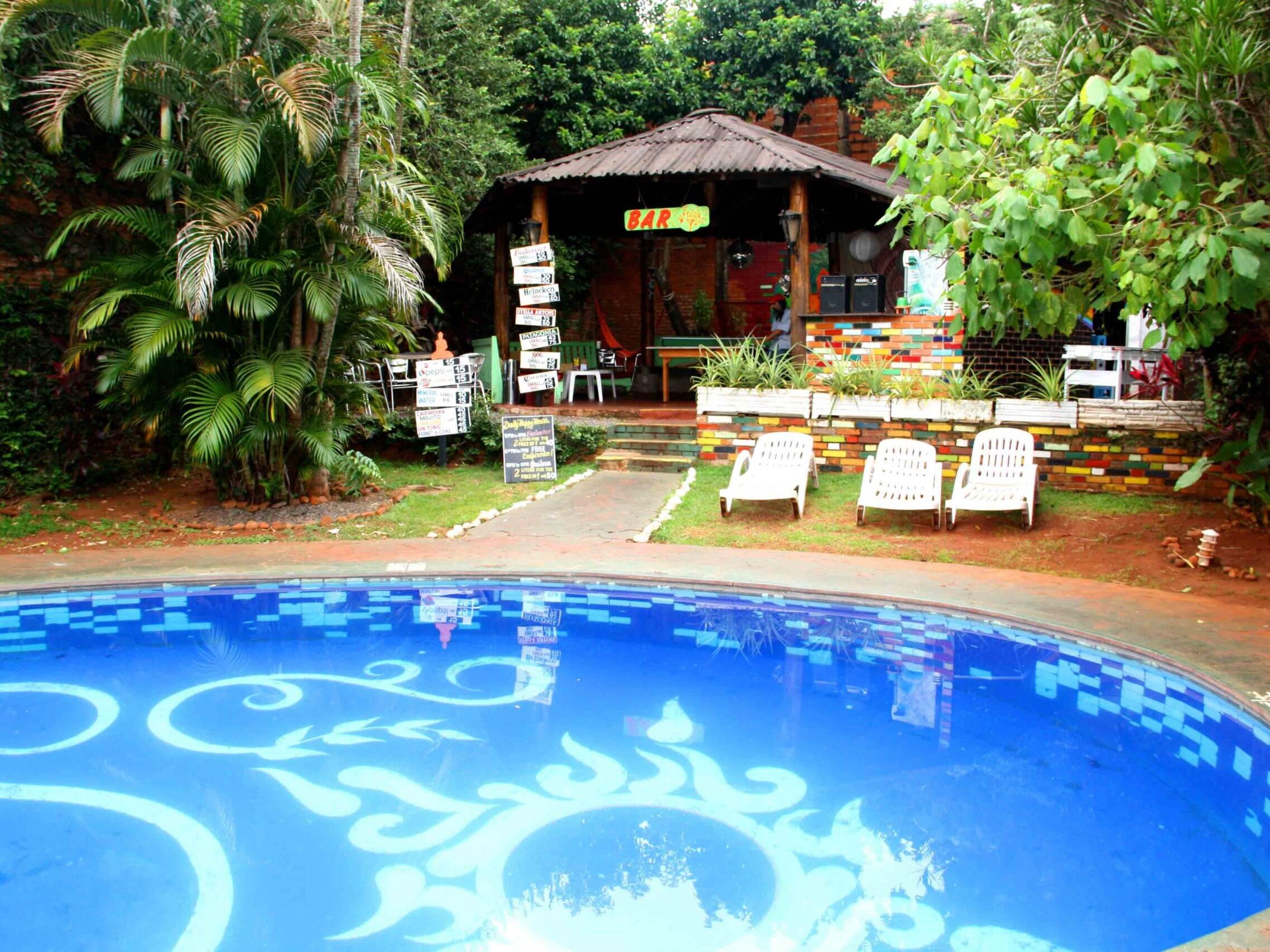 Swimming pool at Mango Chill Hostel in Iguazu Argentina