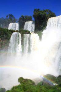 Rainbow at the Iguazu waterfalls in Argentina