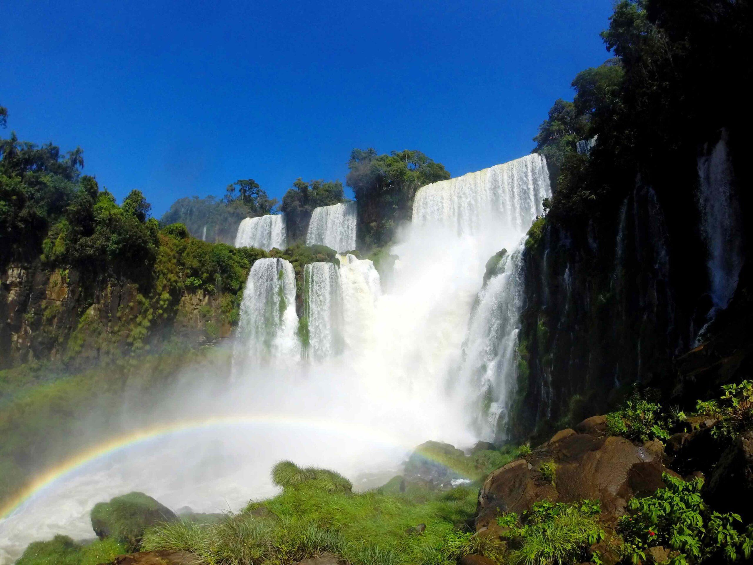 Rainbow at the Iguazu Falls in Argentina