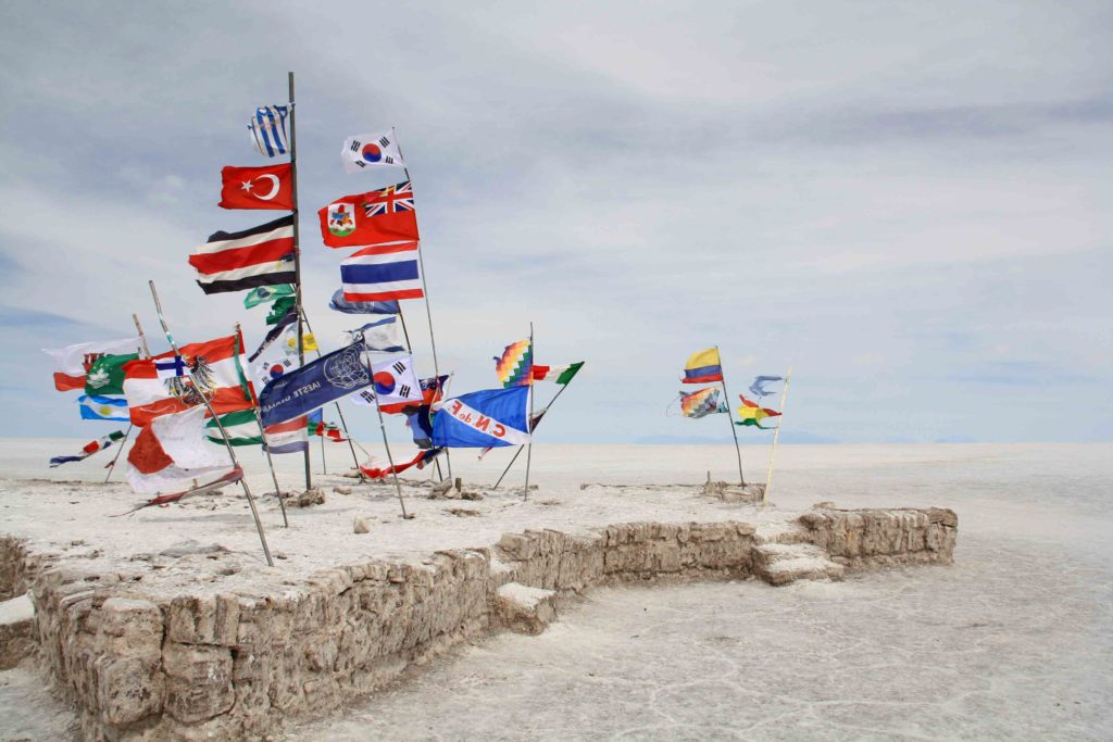 flags countries uyuni salt flats