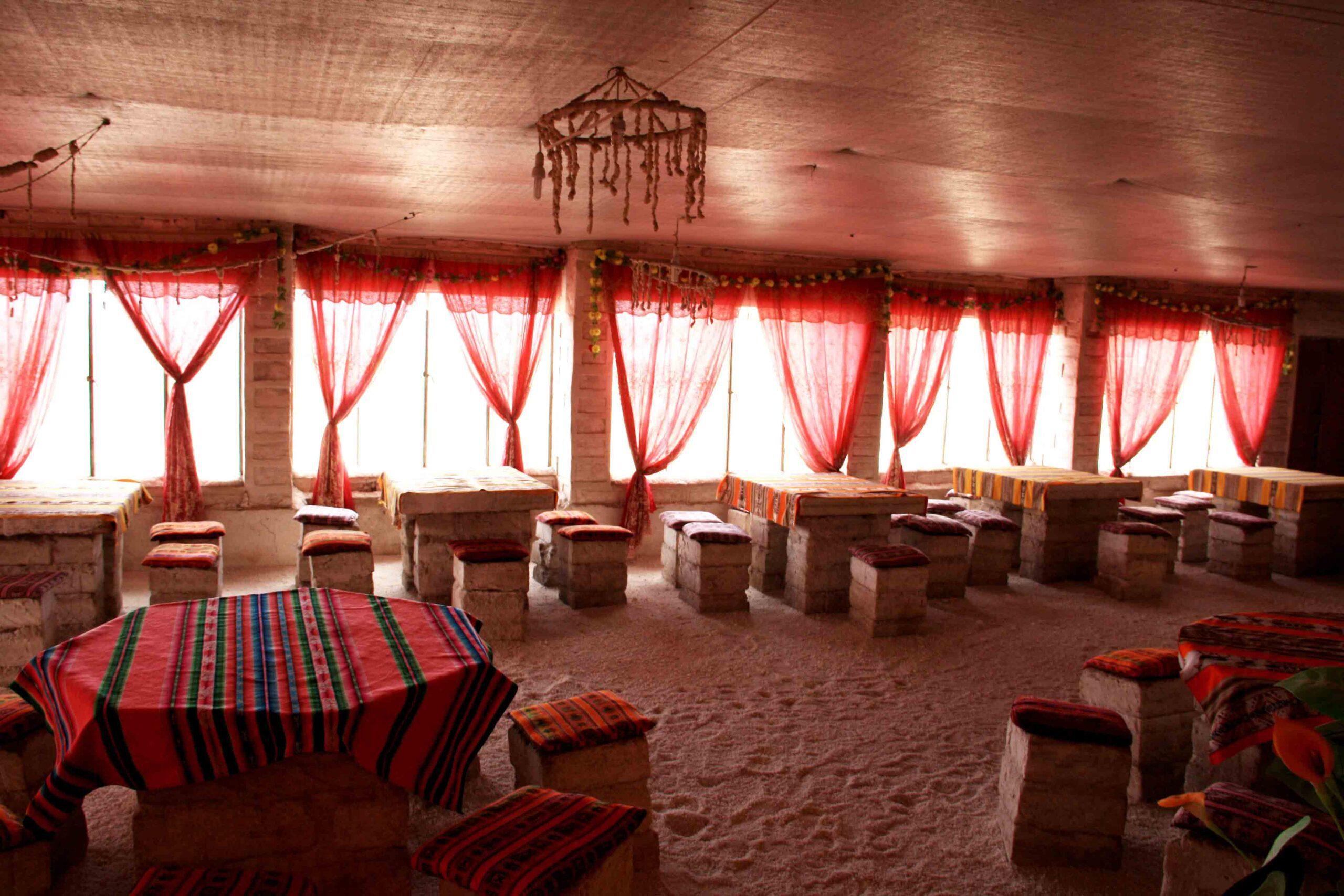 Salt hotel in Uyuni Bolivia