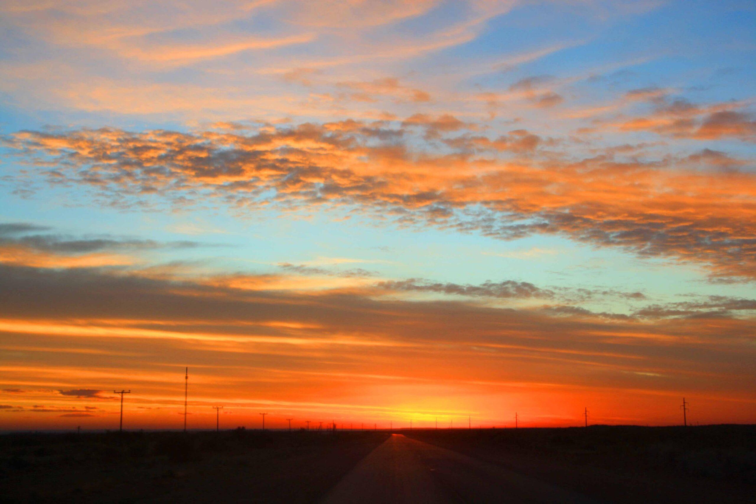 sunset sky roadtrip ushuaia