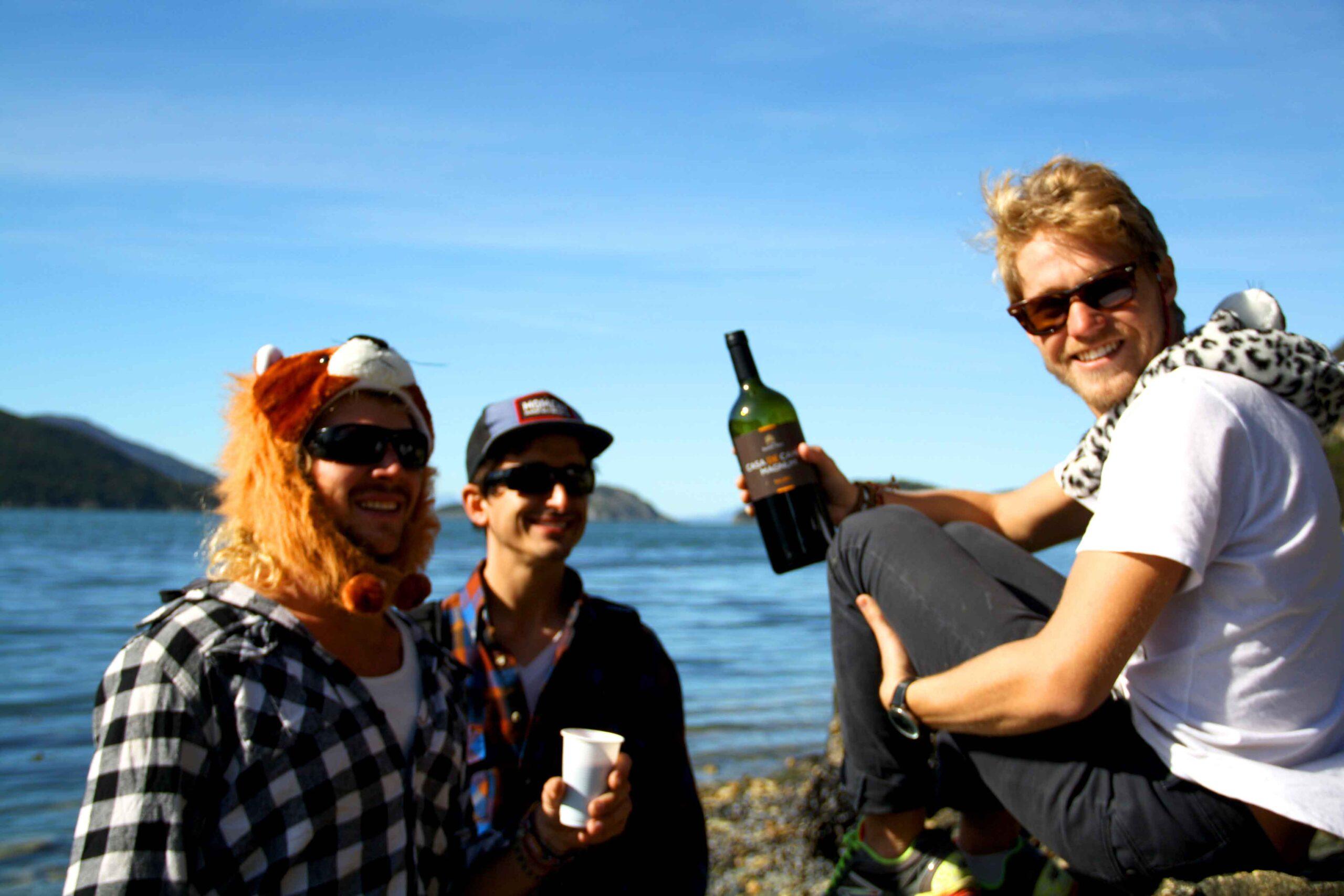 Boys at Tierra del Fuego National Park Argentina
