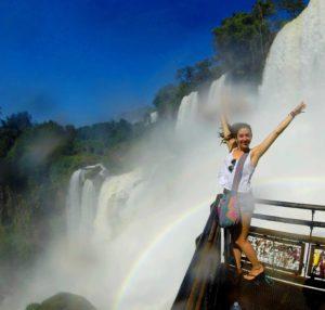 waterfall rainbow iguazu falls