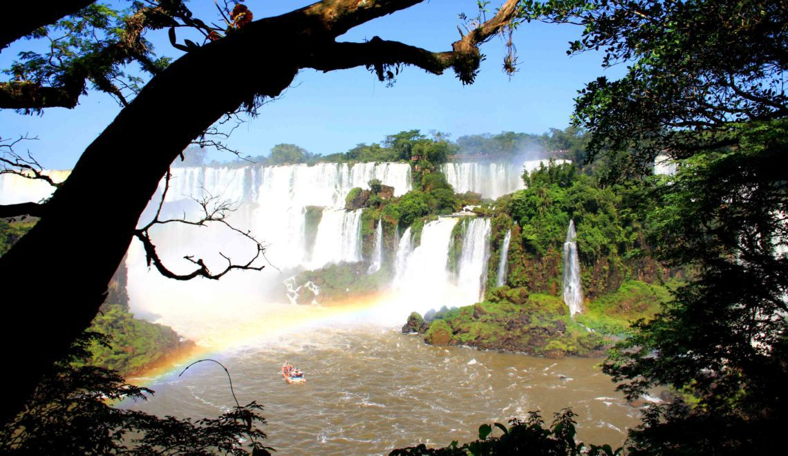 waterfalls rainbows iguazu falls