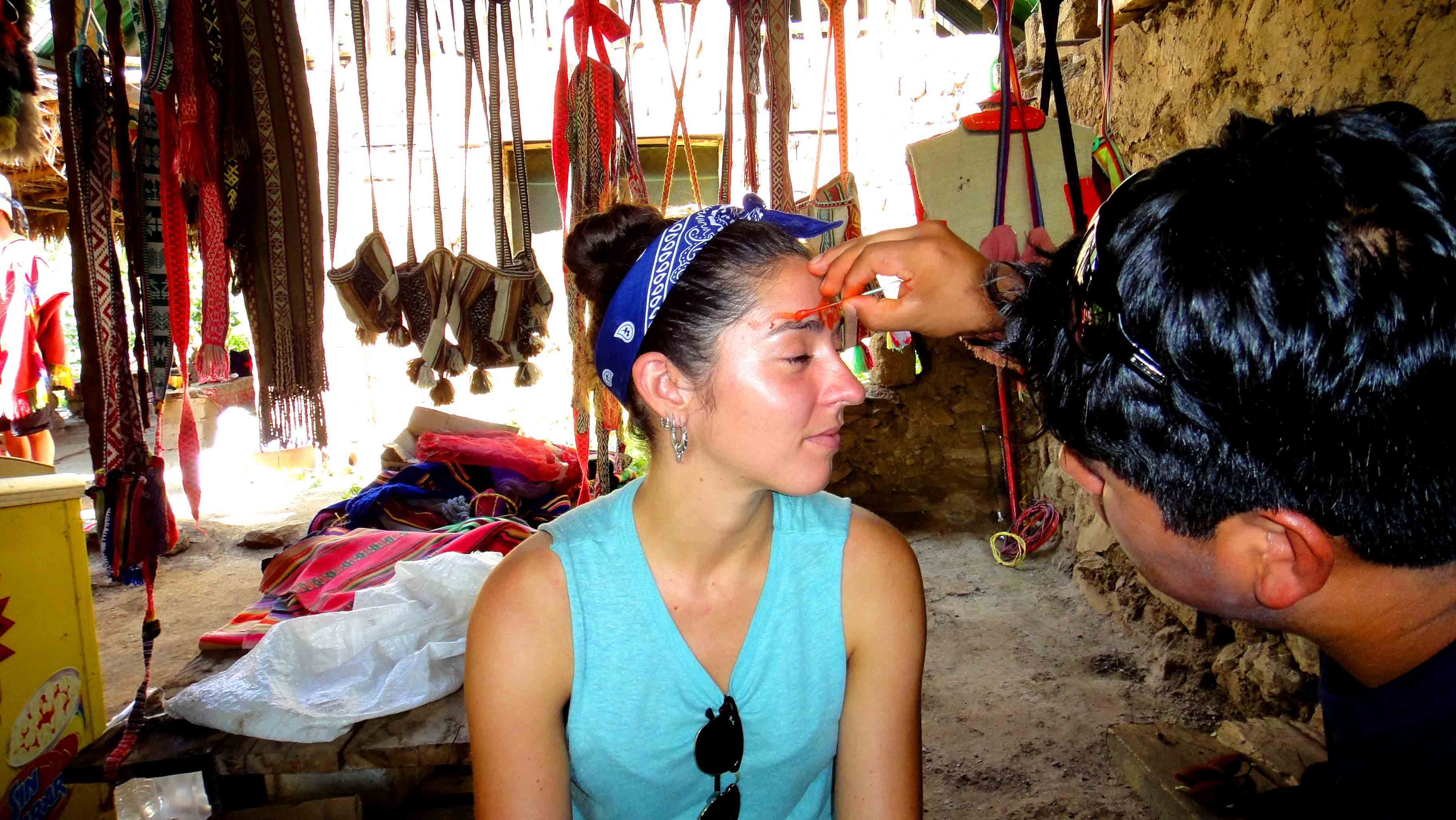 face paint with fruits peru