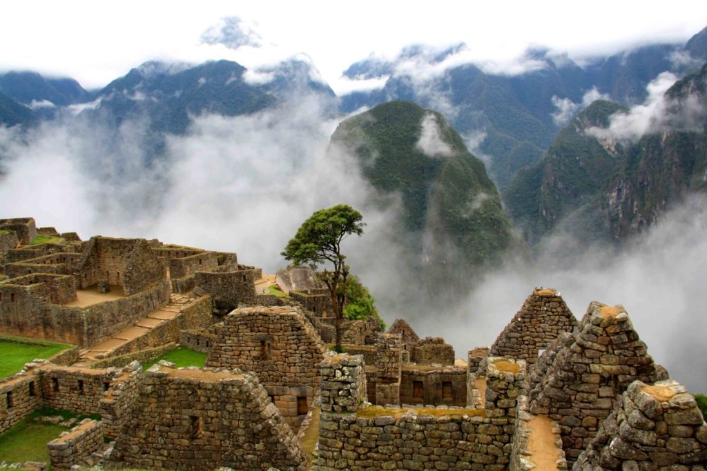 machu picchu view clouds