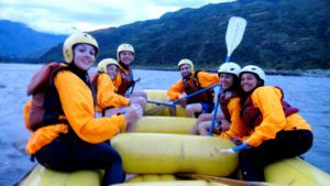 River rafting in Santa Theresa Peru