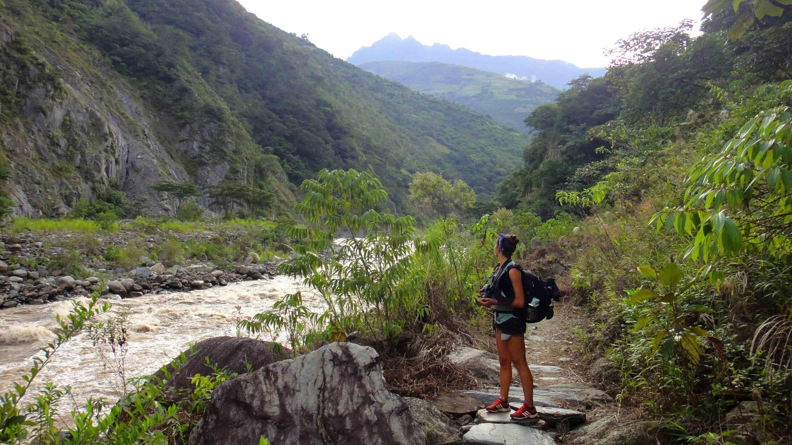 river mountain view hiking inca jungle trekking