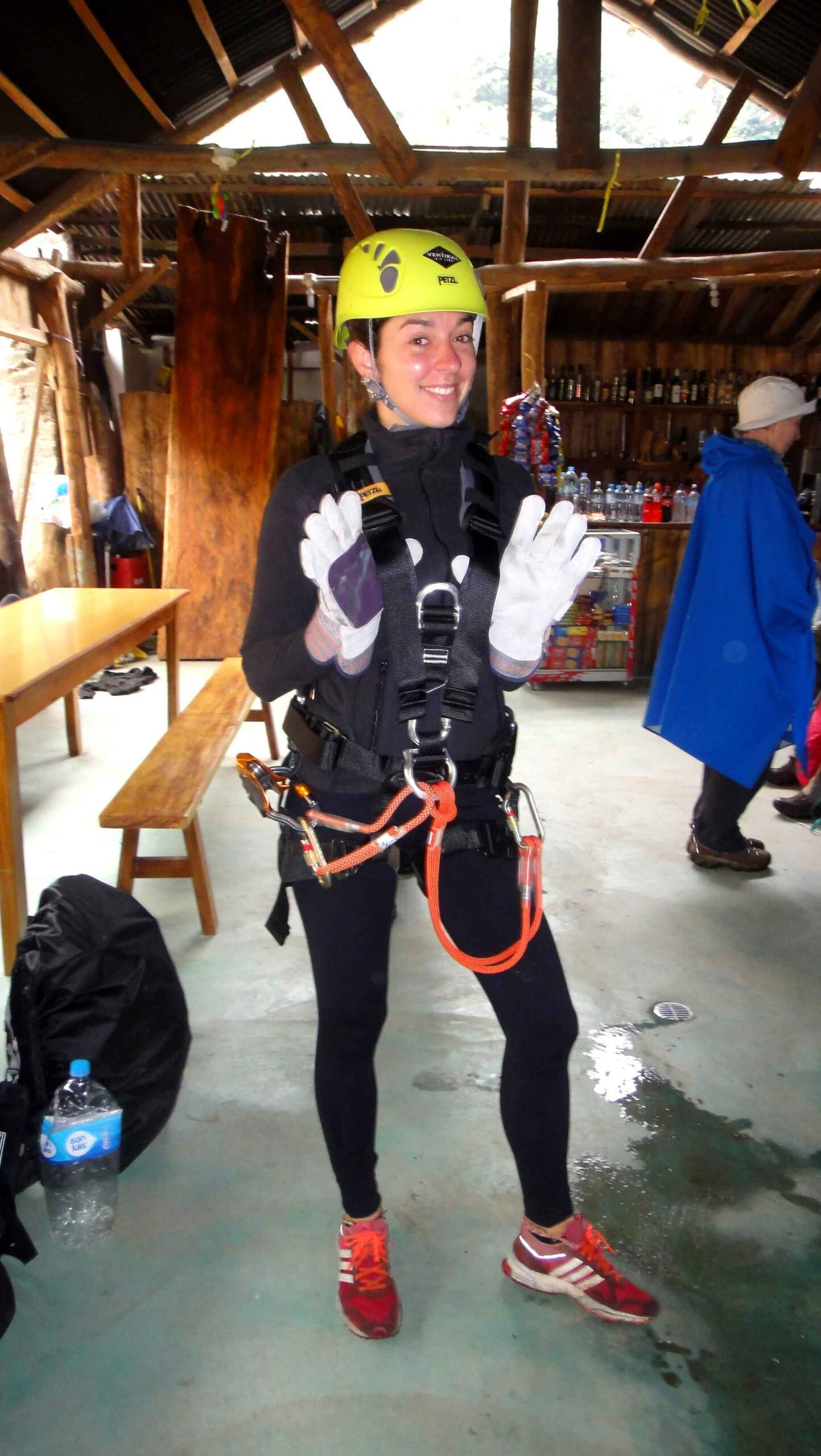 ziplining outfit Inca jungle trail Peru