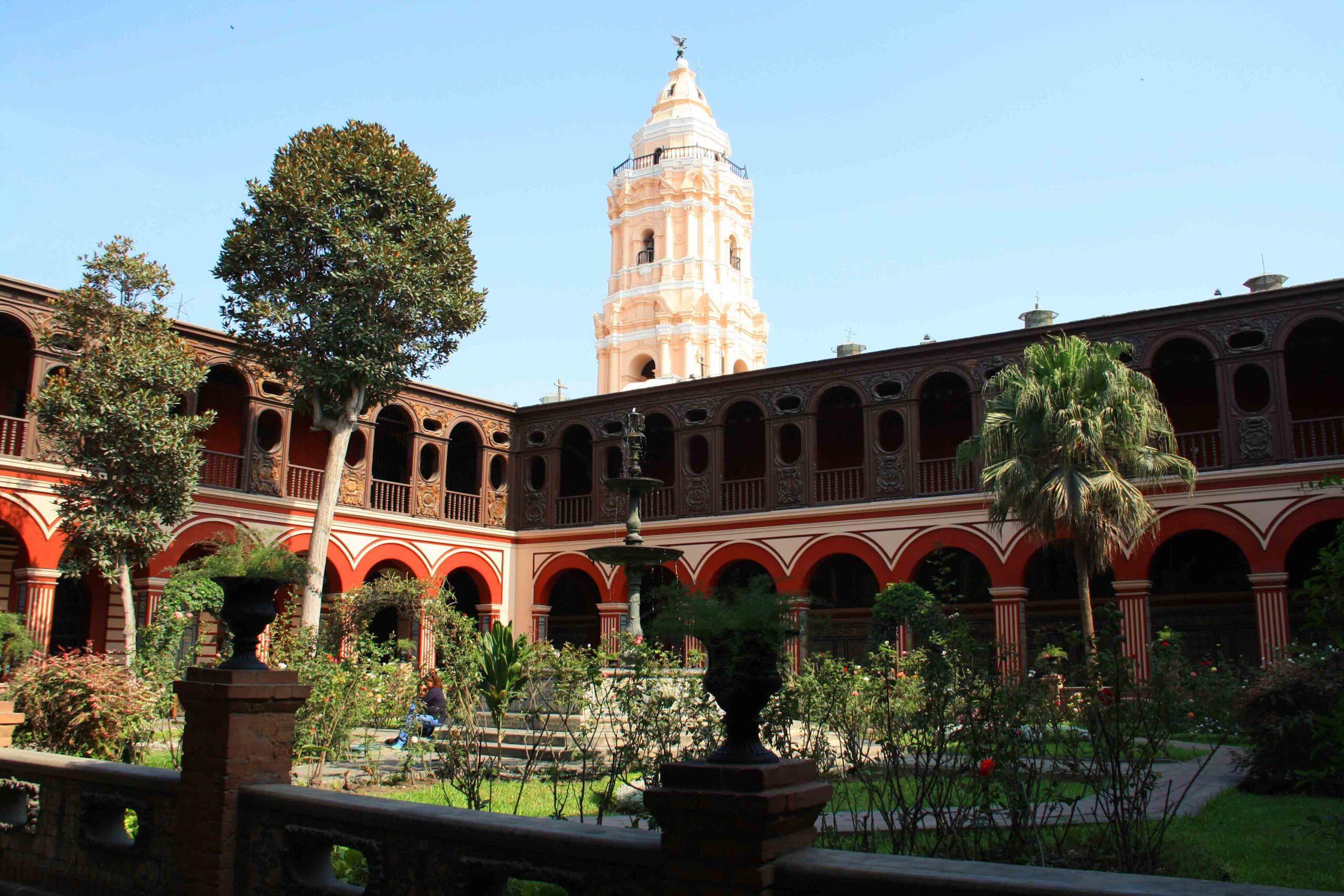 church monastry garden lima