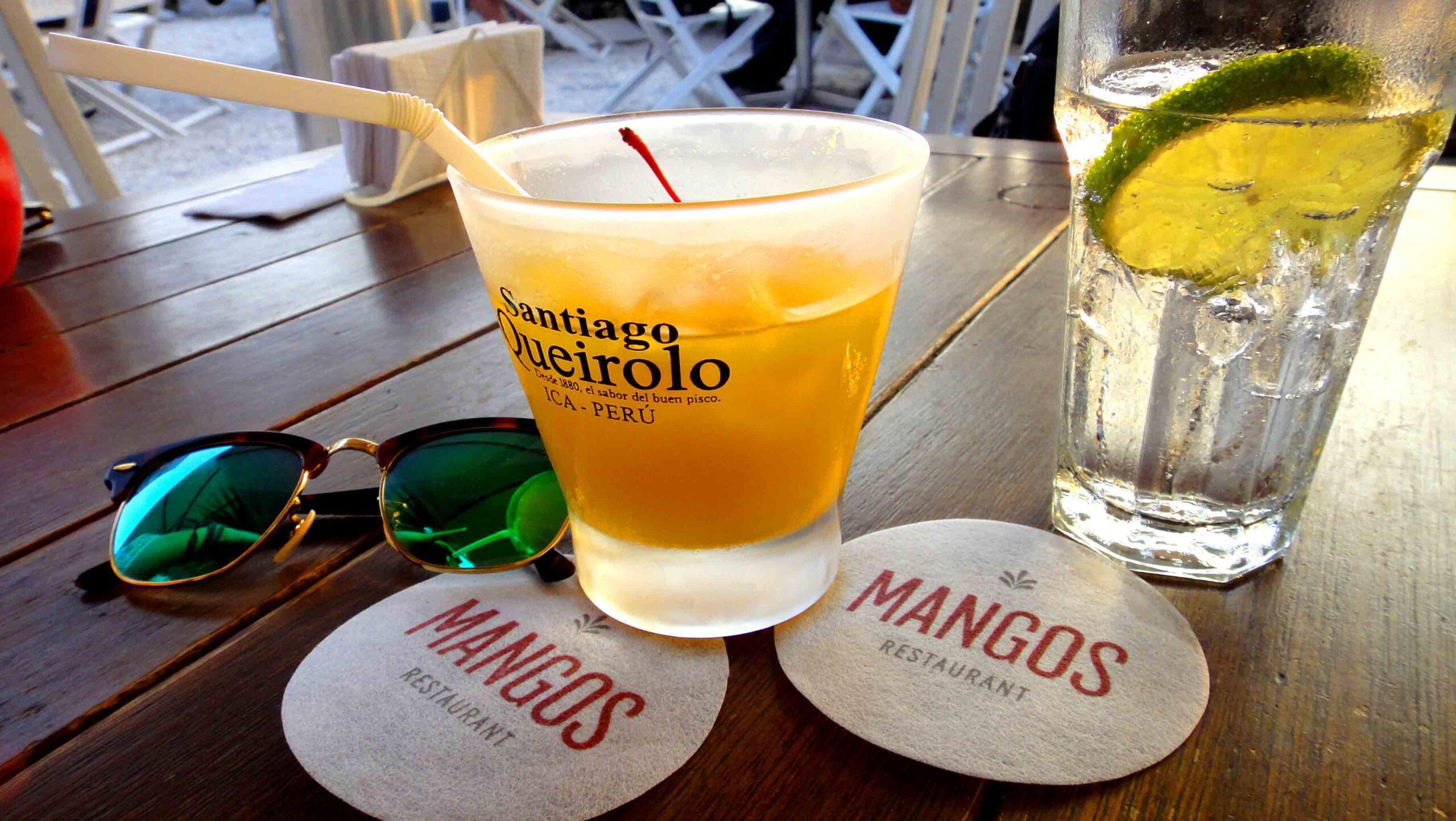 mangos pisco sours in Lima Peru