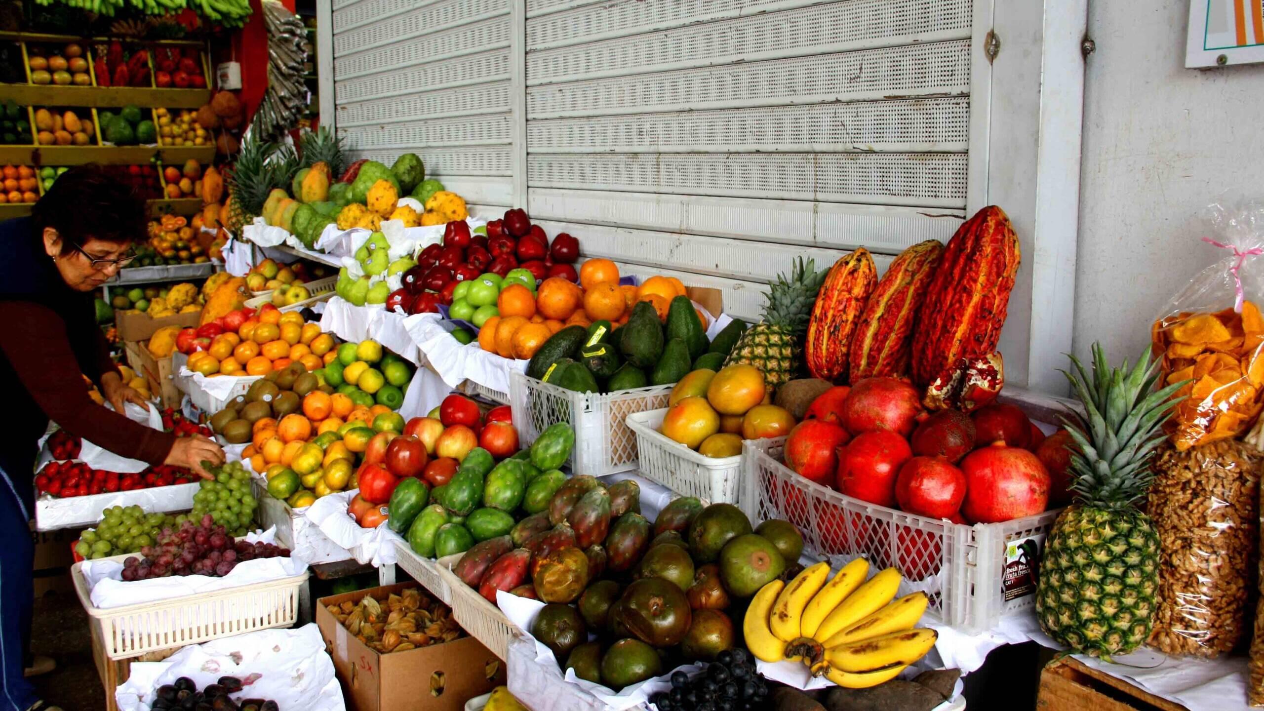 fruit market in Lima Peru