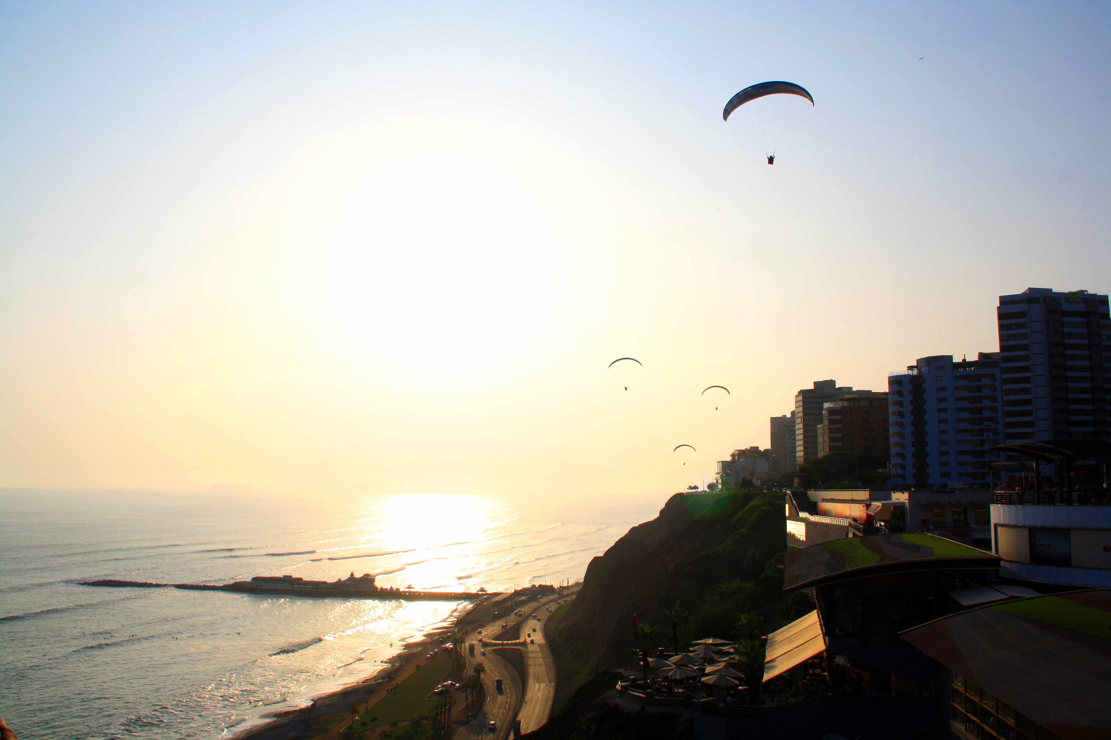view mangos lima paragliding cliffs
