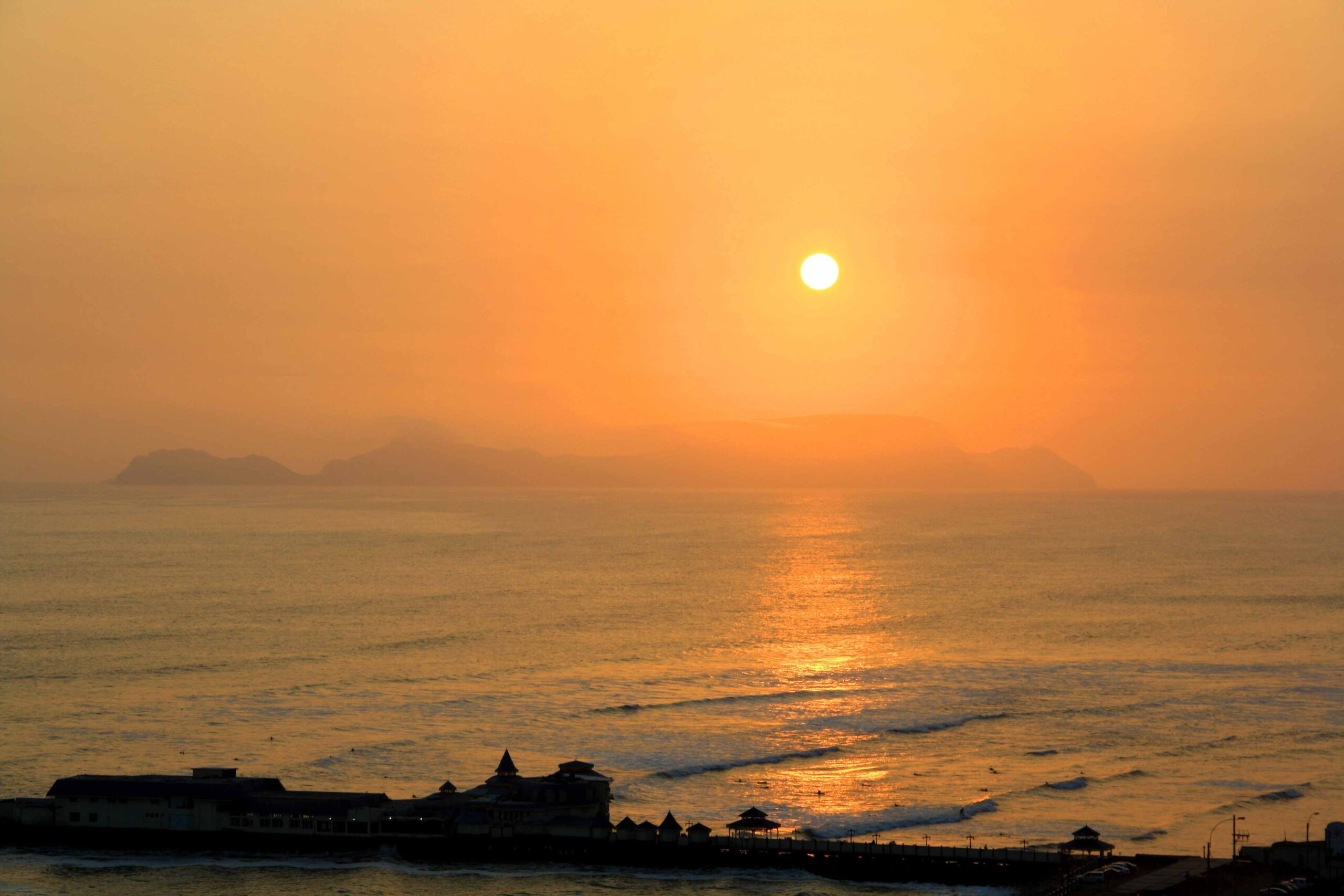 sunset view from Miraflores Lima Peru