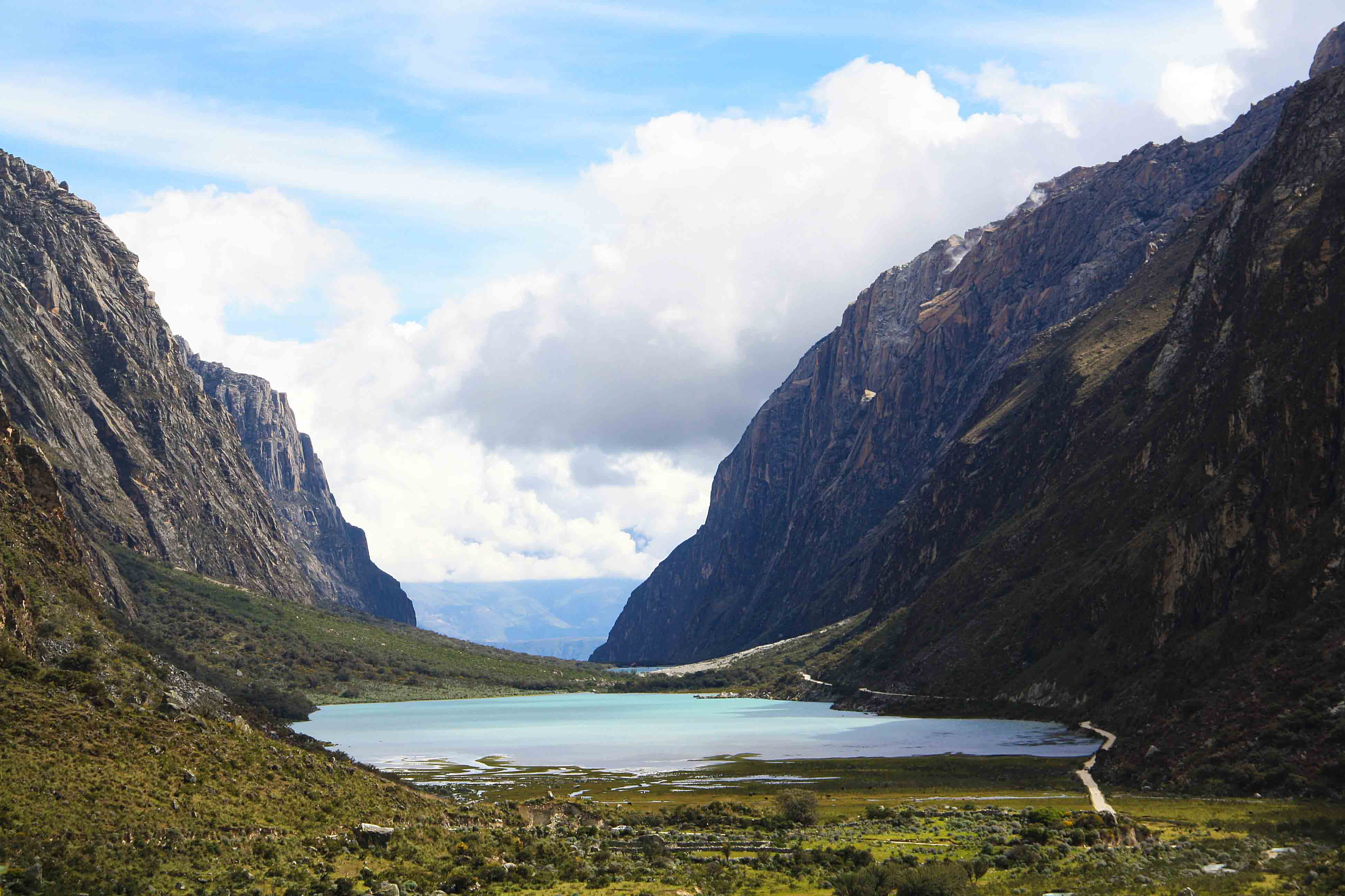 lake and mountains of the cordillera blanca