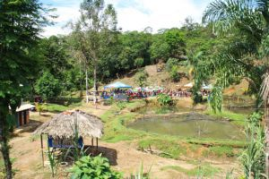 jungle town party in San Cipriano Colombia
